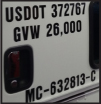 DOT Numbers Fleet Graphics